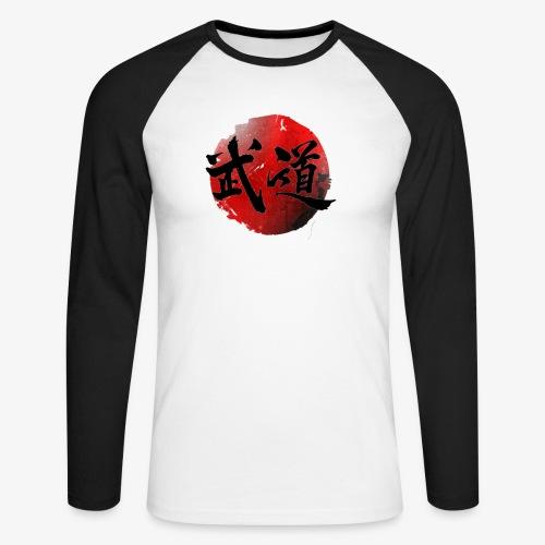 BUDO JAPAN FLAG - T-shirt baseball manches longues Homme