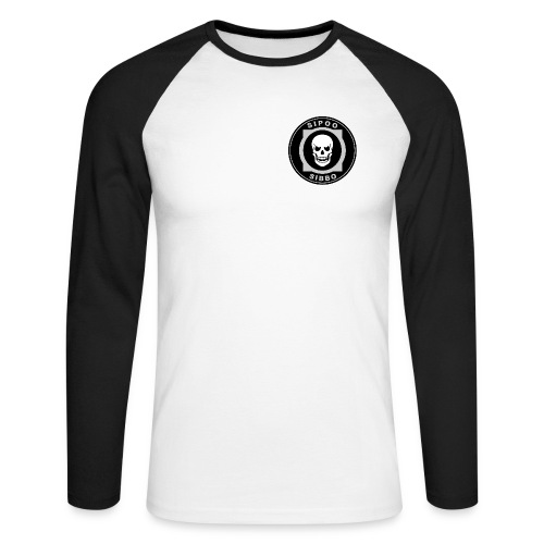 sibbo_skull_3504x3504 - Men's Long Sleeve Baseball T-Shirt