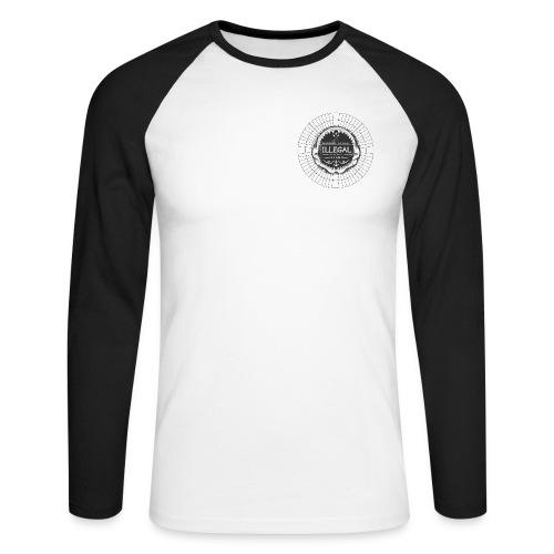 logo toile - T-shirt baseball manches longues Homme