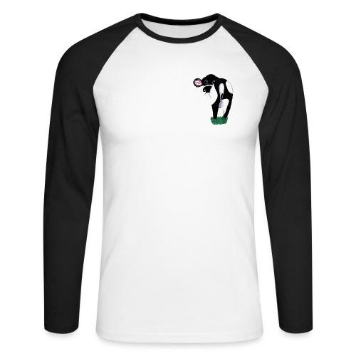 Quirky Cows Rear view - Men's Long Sleeve Baseball T-Shirt