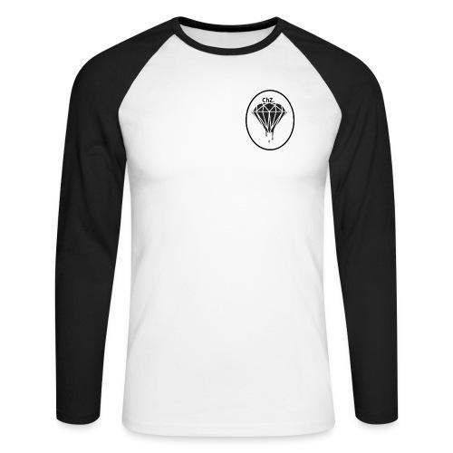 ChZ logo5 - Men's Long Sleeve Baseball T-Shirt