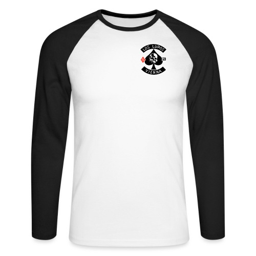 Los Lupos Logo - Männer Baseballshirt langarm