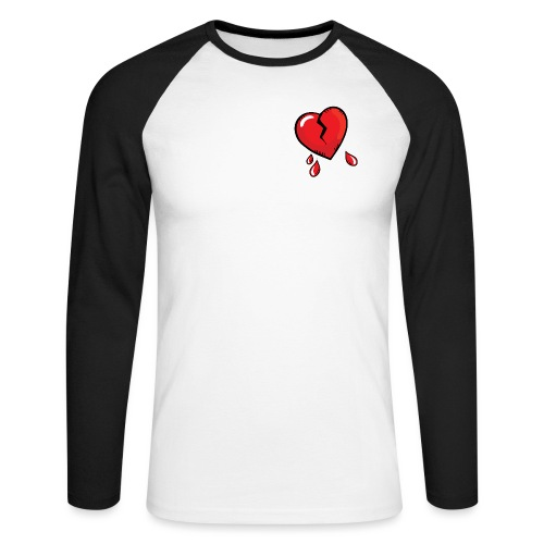 Broken Heart - Men's Long Sleeve Baseball T-Shirt