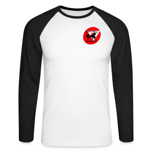 Belfast YMCA Powerlifting Logo - Men's Long Sleeve Baseball T-Shirt