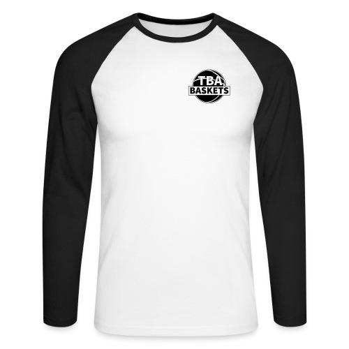 LOGO Black - Männer Baseballshirt langarm