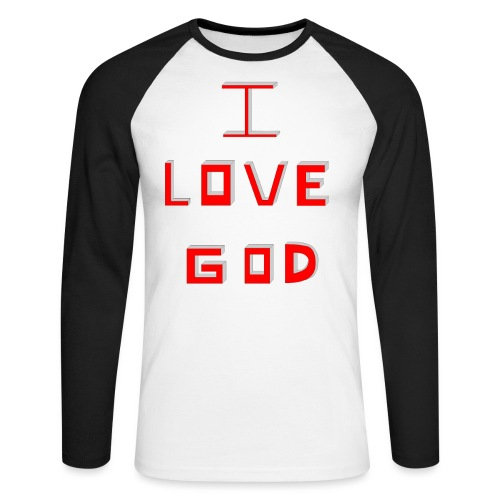 I LOVE GOD - Raglán manga larga hombre