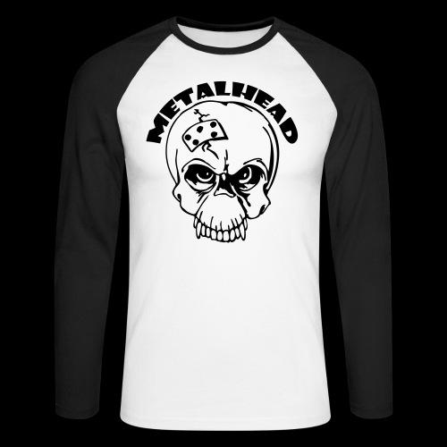 metalhead - Långärmad basebolltröja herr