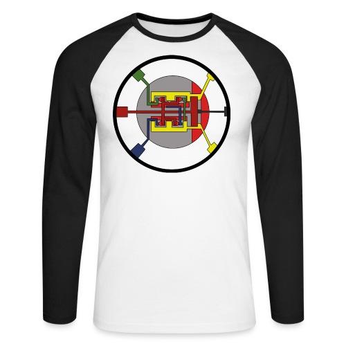 JackJohannes Hemp's Oscillator - Mannen baseballshirt lange mouw