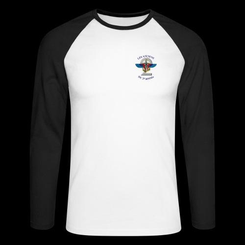 ANCIENS2 logo texte bleu detoure BD png - T-shirt baseball manches longues Homme