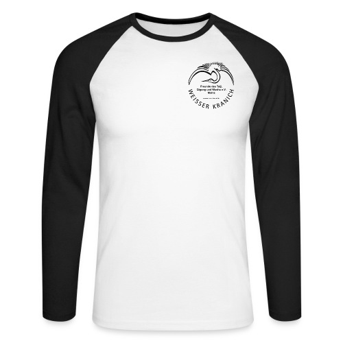 kranichlogo - Männer Baseballshirt langarm