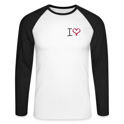 I love, I heart symbol - Men's Long Sleeve Baseball T-Shirt