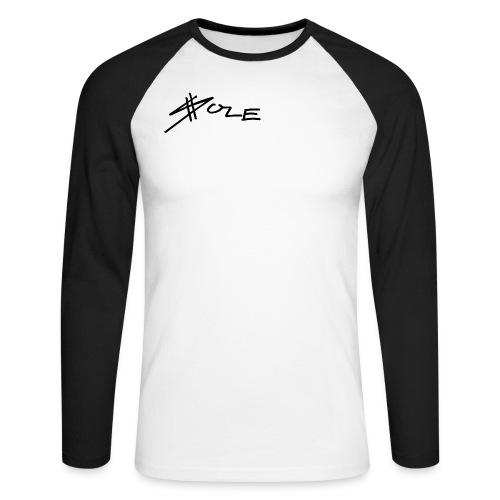 SOLE Logo Writing 2 Colour Longsleeve Tee - Männer Baseballshirt langarm
