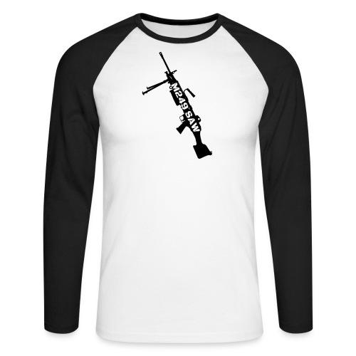 M249 SAW light machinegun design - Mannen baseballshirt lange mouw