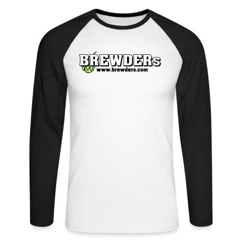 brewdersbranding weisse fuellung hopfen - Männer Baseballshirt langarm