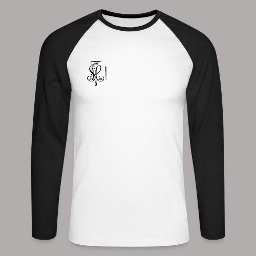 Zirkel, schwarz (vorne) - Männer Baseballshirt langarm