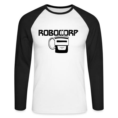 Robo corp - Koszulka męska bejsbolowa z długim rękawem