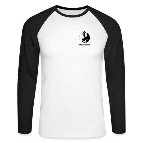 indomaster logo black - Men's Long Sleeve Baseball T-Shirt