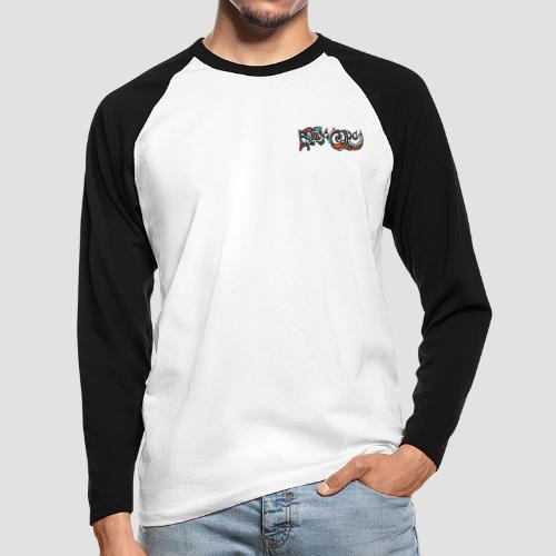 Felix Culpa Designs front & back logo - Men's Long Sleeve Baseball T-Shirt