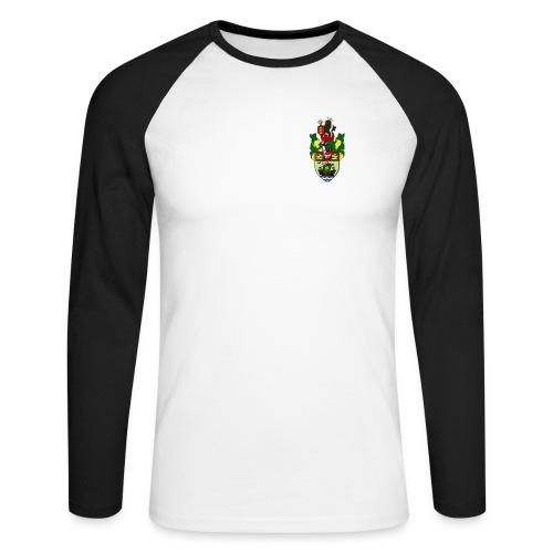 runcorn linnets crest 120dpi - Men's Long Sleeve Baseball T-Shirt