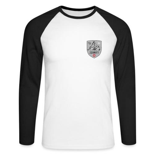 Zermatt Schweiz Wappen - Men's Long Sleeve Baseball T-Shirt