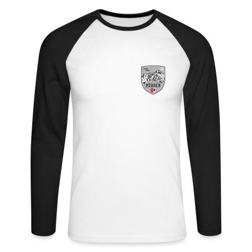 Eiger, Mönch und Jungfrau mit Mürren Flagge - Men's Long Sleeve Baseball T-Shirt