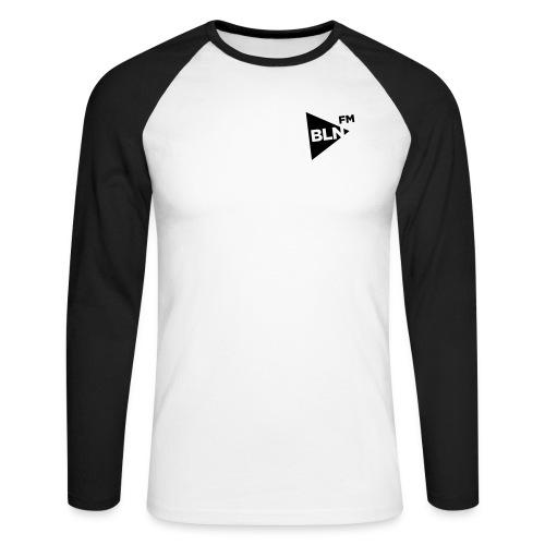 BLN FM Logo - Männer Baseballshirt langarm