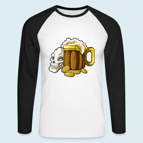 beer - Maglia da baseball a manica lunga da uomo