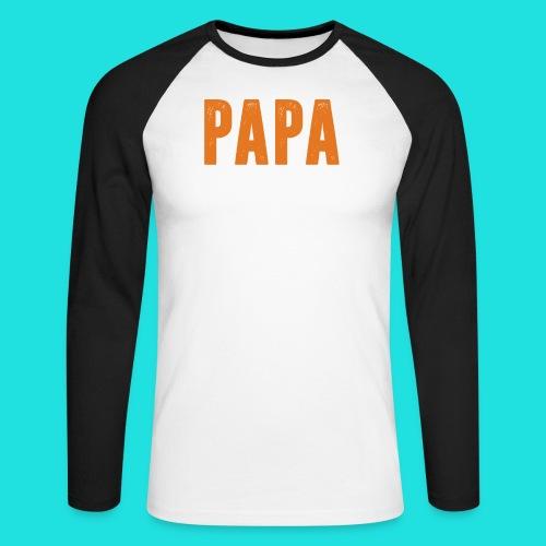 Papa - Männer Baseballshirt langarm