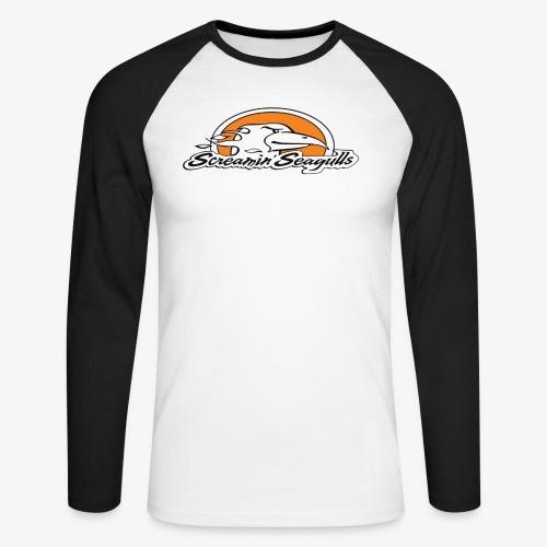 ScreamingSeagulls - Men's Long Sleeve Baseball T-Shirt