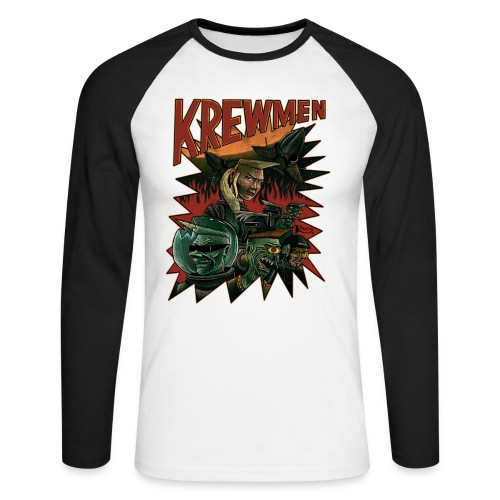 front krewmen - Men's Long Sleeve Baseball T-Shirt