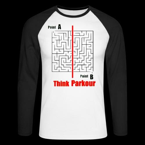 maze - Men's Long Sleeve Baseball T-Shirt