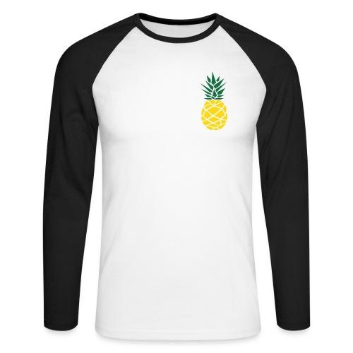 Pineapple - Mannen baseballshirt lange mouw