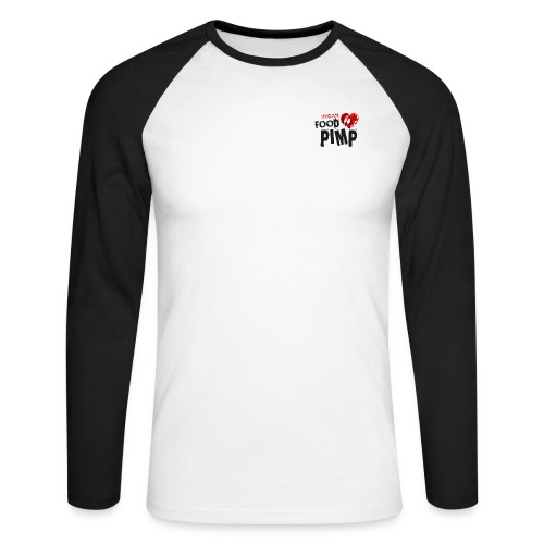 Vegan Food Pimp stacked l - Men's Long Sleeve Baseball T-Shirt