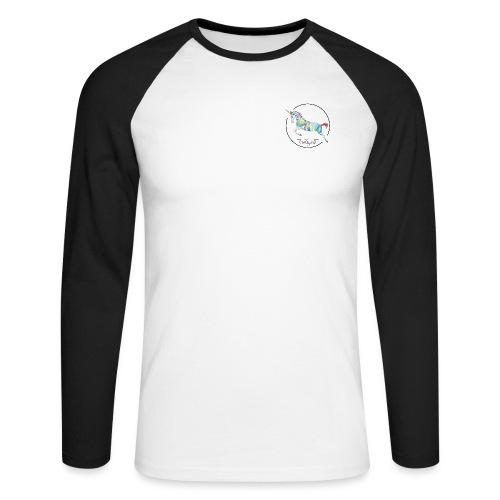 Einhorn Wappen - Männer Baseballshirt langarm