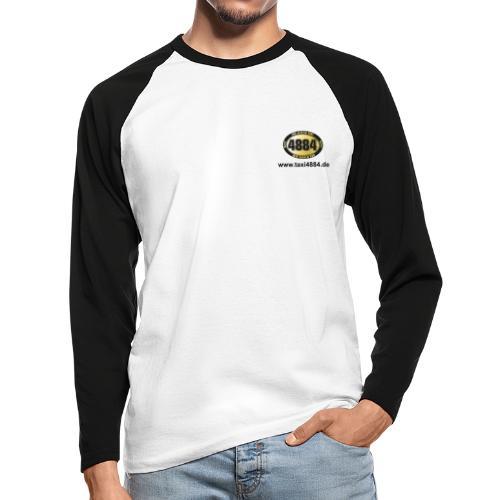 logoeinfach schwarz - Männer Baseballshirt langarm