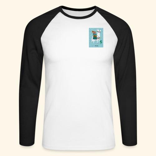 Lama Gang - Männer Baseballshirt langarm