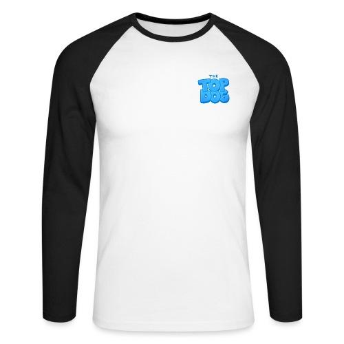 smaller topdog logo - Men's Long Sleeve Baseball T-Shirt
