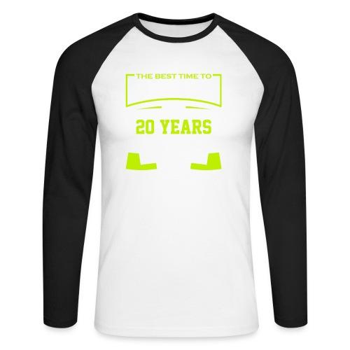 The best time to plant a tree was 20 years ago - Langermet baseball-skjorte for menn