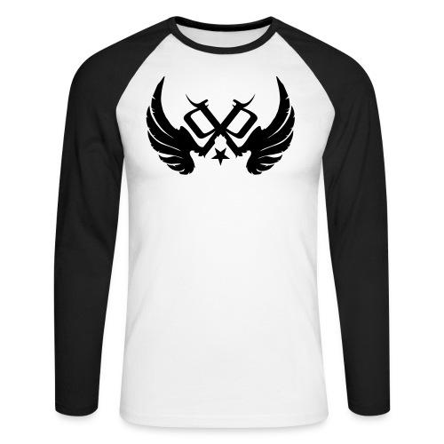 PP Logo Winged - Men's Long Sleeve Baseball T-Shirt