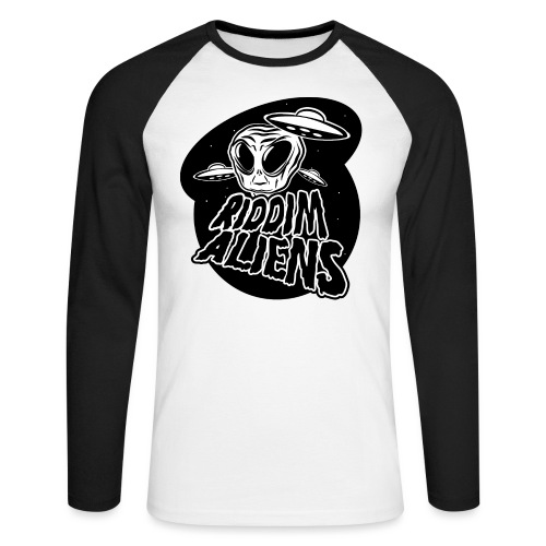 Alien (White Design) - Men's Long Sleeve Baseball T-Shirt