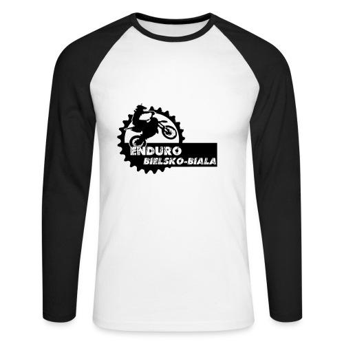 grafika - Koszulka męska bejsbolowa z długim rękawem