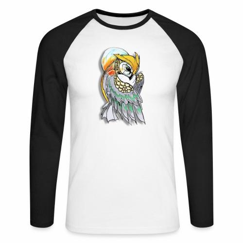 Cosmic owl - Raglán manga larga hombre