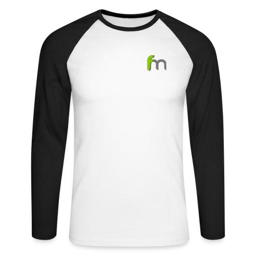 Logo ffm ohne Kreis - Männer Baseballshirt langarm
