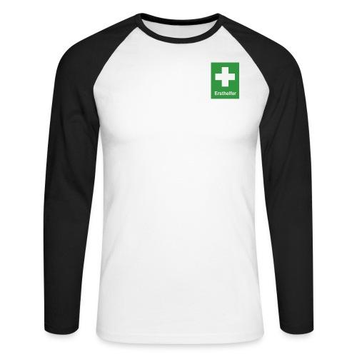 Erst Helfer - Männer Baseballshirt langarm