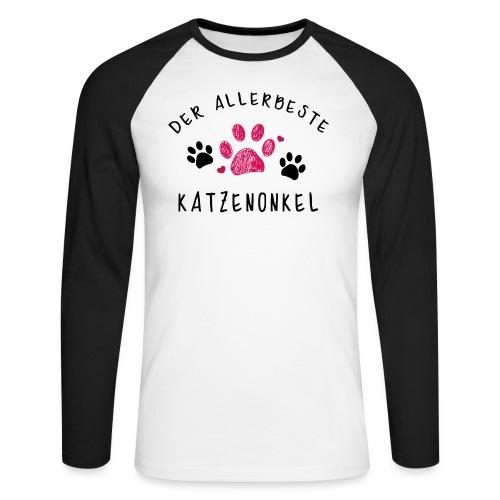 Der allerbeste Katzenonkel - Männer Baseballshirt langarm