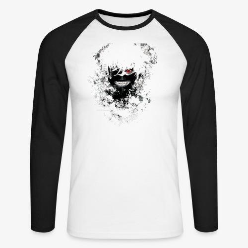 Kaneki Eye Patch - Men's Long Sleeve Baseball T-Shirt