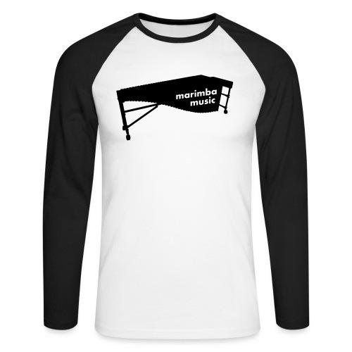 Marimba Music 2 Kontur - Männer Baseballshirt langarm