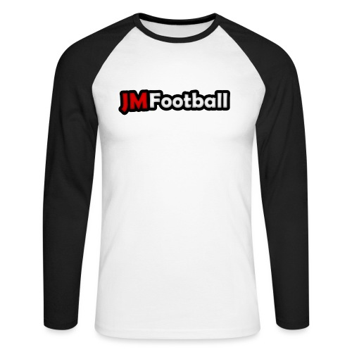 JMFootball Text Logo Top - Men's Long Sleeve Baseball T-Shirt