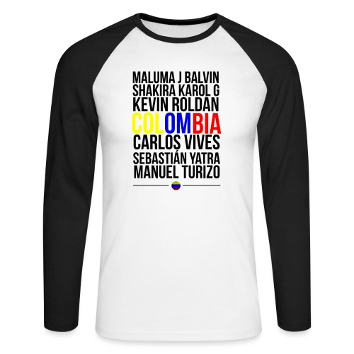 Reggaeton Shirt Kolumbien - Männer Baseballshirt langarm