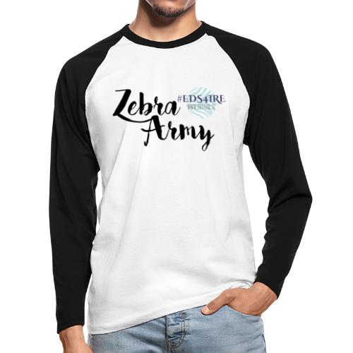 Zebra Army (black) - Men's Long Sleeve Baseball T-Shirt